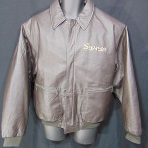 SNAP ON Retro Full Zip Bomber Style Coat Jacket